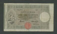 More details for italy sicily sicilia  25 lire  1918  krause.s895  banknotes