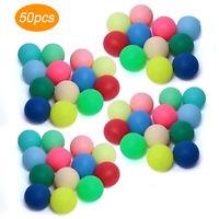 50pcs 40mm Mixed Color Ping Pong Balls Entertainment Table Tennis DIY Toys Game