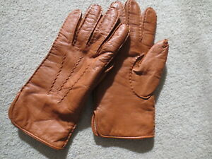 ASPINAL OF LONDON NEW UNWORN LIGHT BROWN NAPPA LEATHER CASHMERE LINED GLOVES 8