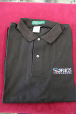 Sports Channel Black Polo Shirt Large Outer Banks Short Sleeve Shirt