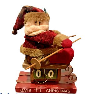Christmas Vintage Santa Claus Countdown to Christmas Numbers With Original Box