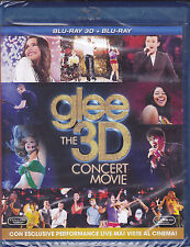 Blu-ray 3D + Blu-ray 2D **GLEE ♥ THE 3D CONCERT MOVIE** nuovo 2011