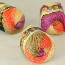 Sale Lot of 3 Skeins New Knitting Yarn Chunky Colorful Hand Wool Wrap Scarves 24