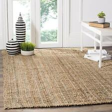 Jute Solid Pattern Indoor Outdoor Area Rugs For Sale Ebay