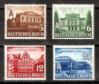 DR Nazi 3rd Reich Rare WW2 Stamp Hitler Leipzig Fair Castle Palace Architecture
