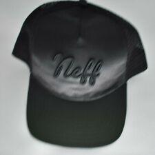d64de3aeb4871 Neff Mens Black Satin Snapback Cap Hat New