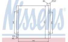 NISSENS Condenser, air conditioning fits Honda Civic 1.4i S 1.5i 1.6 VTI