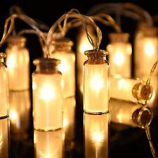 Stringa di 10 LED MINI BOTTIGLIA Lucine Stelle Albero Di Natale Ghirlanda Matrimonio