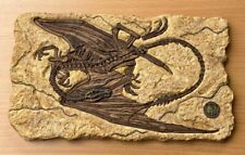 More details for 'draco-diabolus' dragon fossil resin wall plaque - rare collector's item