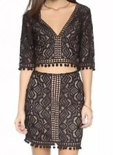 xs for love and lemons two piece top and skirt set, pristine condition
