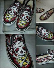VANS Shoes Oliver Peck Rose Tattoo Ink Master Unisex Mens 6 Womens 7.5 Slip on