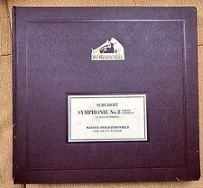 Schubert Symphonie No. 8 H-Moll Schellackplatten His Masters Voice Wiener Philh.
