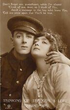 WW1 Soldier Thinking of the Girl I left behind BRAMSHOTT CAMP Postmark 1915