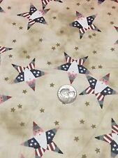 100% Cotton Quilting Fabric 4th of July Character Print 1.25 yds
