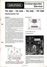 Service Manual-Instructions pour Grundig tk 248/tk 242/tk 246/tk 222