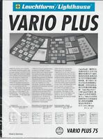 Lighthouse Vario PLUS 7 Pocket Black Stamp Album Pages Pack of 5 Free Shipping