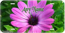 Purple Flowers Aluminum Any Name Personalized Novelty Car Auto License Plate