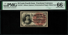 Fr-1257 $0.10 Fourth Issue Fractional Currency - 10 Cent - PMG 66 EPQ