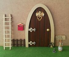 Boys dragon/ castle fairy door & , ladder, fairy prince sign, fairy dust, key