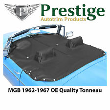 MGB Tonneau Cover Black Factory Quality Vinyl with Headrest Pockets 1962-1967