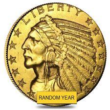 $5 Gold Half Eagle Indian Head - Ex Jewelry (Random Year)