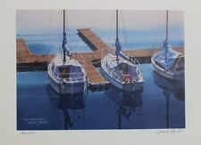 Grant Fuller Hand Signed Numbered Limited Edition We'll Soon be Sailing1990