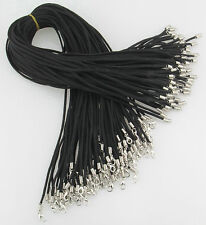 hot Wholesale 10pcs Black Suede Leather String 20 inches Necklace Cords