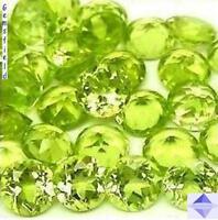 IF ! PERIDOTS de Myanmar !! LOT de 50 brillants 4mm lumineux vert tendre ! AAA++