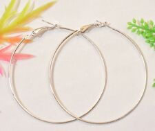 10Pcs Basketball Circle Hoops Earring Fashion Earring Silver Tone  60mm F1017