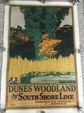 "Dunes Woodland Vintage South Shore Line Poster Repro 21.5"" x 32.75"""