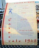 locandina cartonata CARNEVALE 1962 CITTA' DI NOTO formato 33 x 22,5