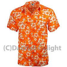 HAWAIIAN SHIRT PARTY FANCY DRESS S XL XXL BEACH FLORAL SHIRT STAG COTTON FEEL L