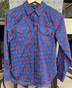 Tommy Hilfiger, Long sleeve Shirt ,  size  XSmall ,Cotton, Blue/red Colour