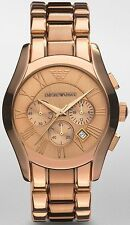 BRAND NEW EMPORIO ARMANI ROSE GOLD CHRONOGRAPH STAINLESS STEEL MEN WATCH AR0365