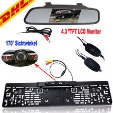 Funk IR LED Rückfahrkamera kennzeichen kabellos Nummernschild Einparkhilfe Kit