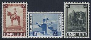 Belgium, Scott #B555-B557, King Albert I Monument, MH