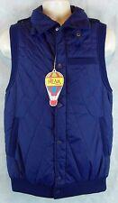 Hot Air Blue Full Zip Nylon Vest W/ 3 Outside pockets 1 Inner, Size Small NWOT