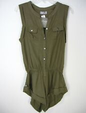RUMOR NWT SLEEVELESS SHORT PANTS JUMPSUIT SIZE S SMALL SOLID GREEN