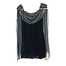 Rampage Junior's Vintage Sheer Scarf Overlay Sleeveless Velvet Prom Dress Size 5