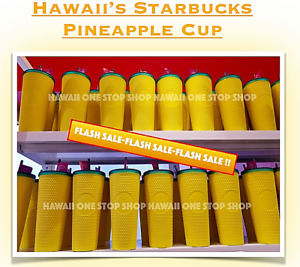 NEW Starbucks Hawaii Exclusive 2020 Pineapple Matte Studded Tumbler Cup 24ozSALE