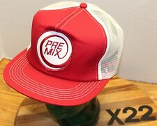 NWOT VINTAGE PRE MIX TRUCKERS STYLE SNAPBACK MESH BACK HAT EMBROIDERED LOGO X22