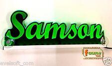 """LED LKW Trucker Leuchtschild """" Samson """" oder Ihr Wunschname faunz©Grün"""