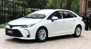 1/18 Alloy simulation car model 12th Toyota Corolla gift collection white 2019