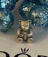 Pandora Teddy Bear Charm Bead Sterling Silver #790395 Retired