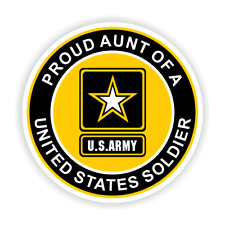 Proud Aunt of a United States Soldier Car Vehicle Magnet - FREE SHIPPING