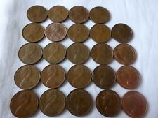 Australian 1 cent 1c coin collection 1966 to 1990 circ set incl 1968 & 1985