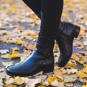 La Canadienne Women's Sharon Waterproof Leather Bootie Black Size 7 NWB