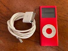 Apple Ipod Nano 2Nd Generation Red 4Gb A1199 Free Shipping