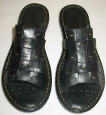 BORN Beah Slide Sandal  Black Leather  US 8  NEW
