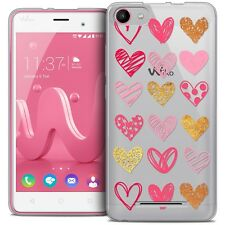 Coque Gel Pour Wiko Jerry Extra Fine Souple Sweetie Doodling Hearts